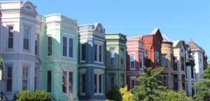 colorful homes, exterior