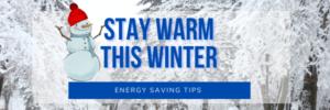 """Stay Warm This Winter"" snowman illustration"